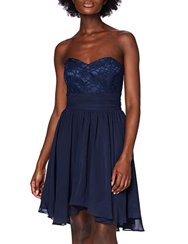 Swing Damen Kleid Maria, Blau (ultramarin 320), 34